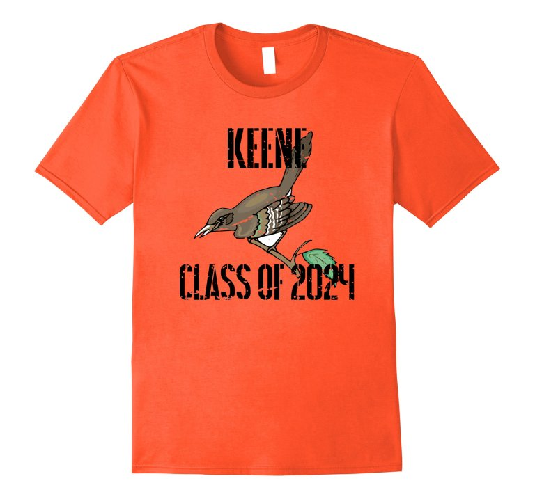 Keene Class Of 2024 T Shirt Distressed Black Text mockup