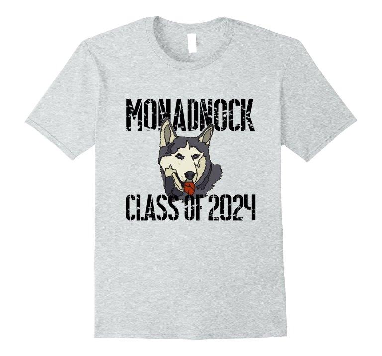 Monadnock Class Of 2024 T Shirt Distressed Black Text mockup