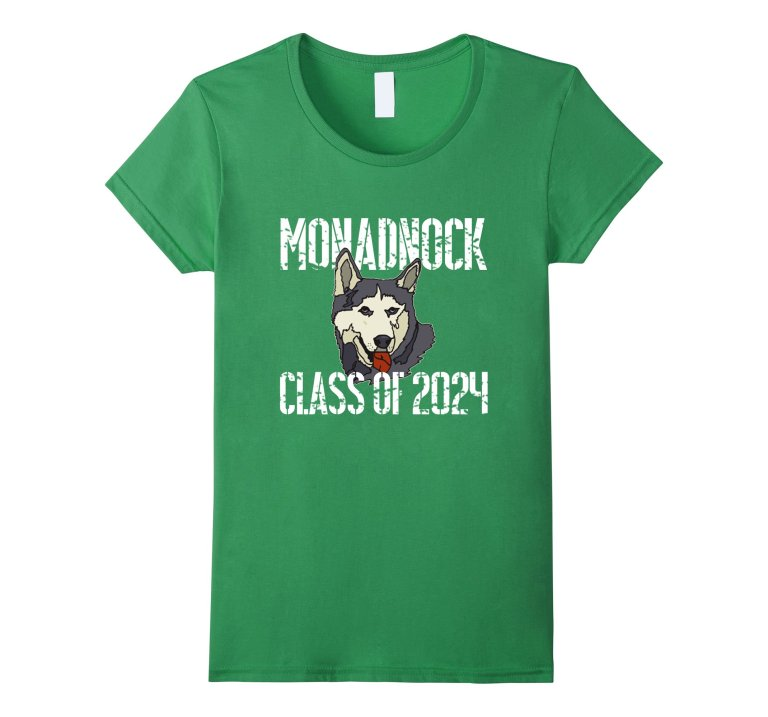 Monadnock Class Of 2024 T Shirt Distressed White Text mockup